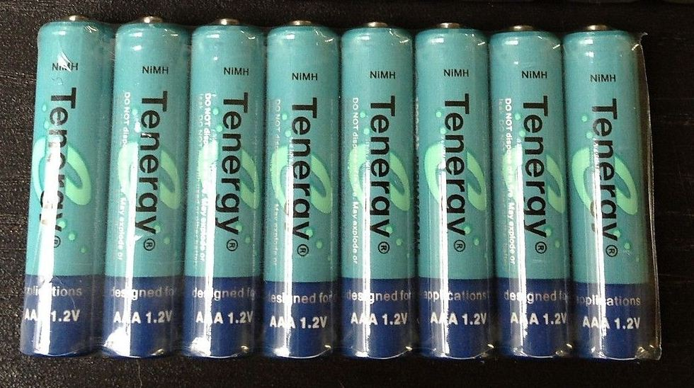 Tenergy 1000mAh AAA 1.2V NiMH Rechargeable Batteries - 8 Pack + FREE SHIPPING!
