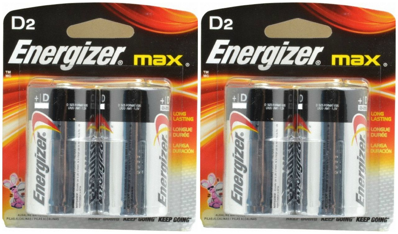 Energizer Max D Batteries  48-Count + Free Shipping