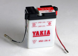 6 Volt 2 AMP Motorcycle And Power Sport Battery (6N2-2A-6)