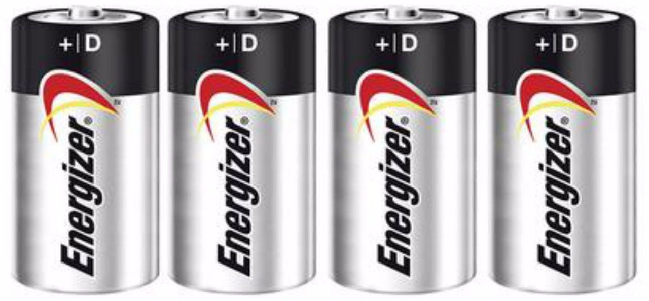 Energizer Max Alkaline D Size Batteries E95VP - 4 Pack + FREE SHIPPING!