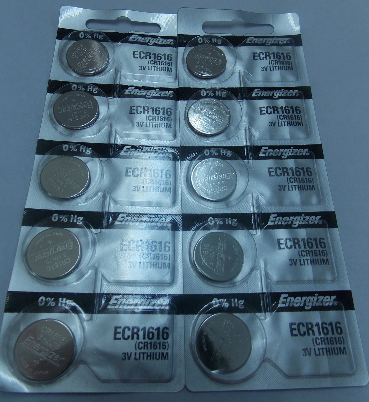 Energizer CR1616 3V Lithium Coin Battery 10 Pack + FREE SHIPPING