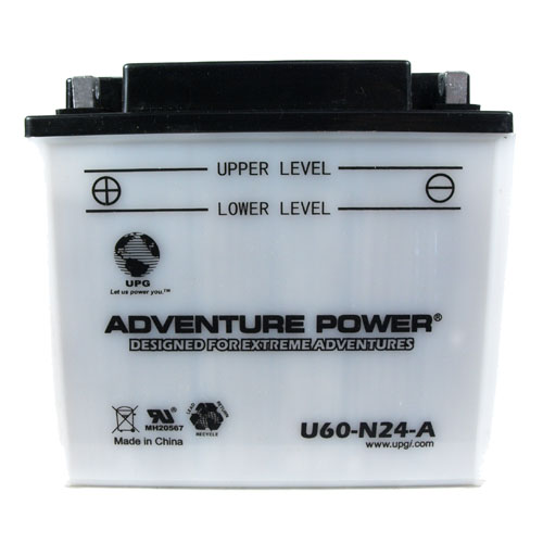 Y60-N24-A 12 Volt 28 Amp Hrs Conventional Power Sport Battery