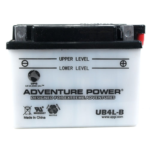 YB4L-B 12 Volt 4 Amp Hrs Conventional Power Sport Battery