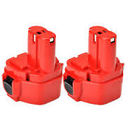 9.6v Makita (Tall Red Pack) Cordless Power Tool Batteries 2000mAh Pack Of 2 + FREE SHIPPING!