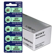 Sony 377/376 - SR626SW Silver Oxide Button Battery 1.55V - 20 Pack - FREE SHIPPING