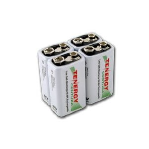 Tenergy Centura 9V 200mAh Low Self-Discharge NiMH Rechargeable Batteries 4 Pack + FREE SHIPPING!