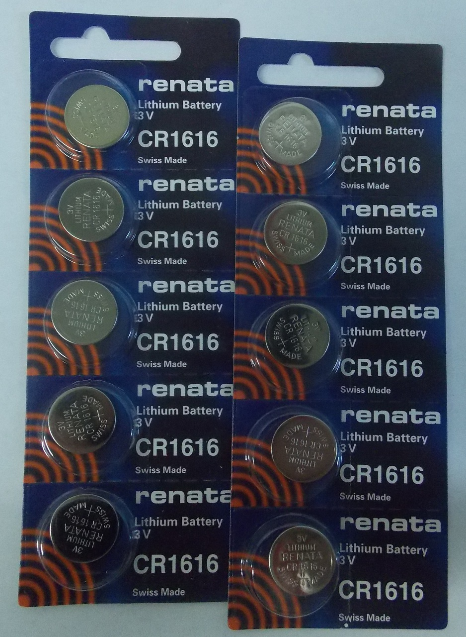 Renata CR1616 3V Lithium Coin Battery 10 Pack + FREE SHIPPING