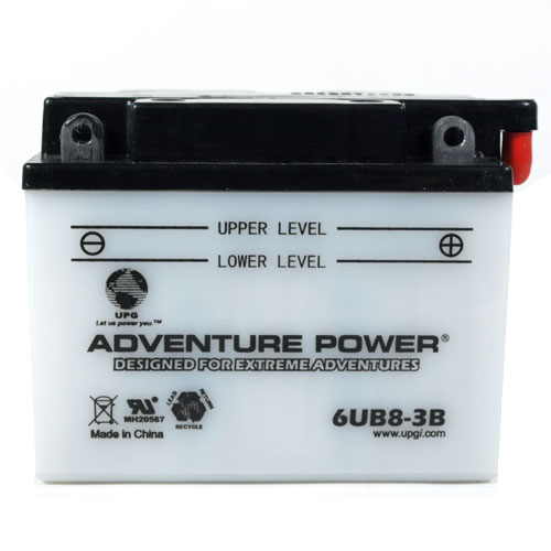 6YB8L-B 6 Volt 8 Amp Hrs Conventional Power Sport Battery