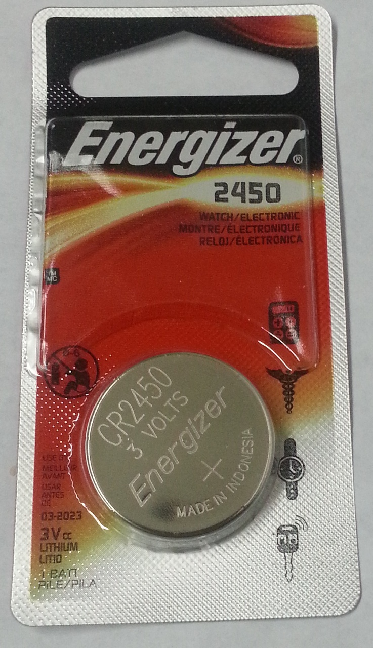 Energizer CR2450 3V Lithium Coin Battery