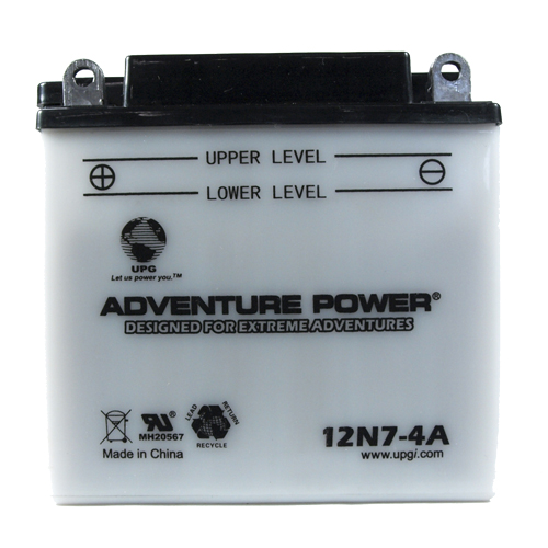 12N7-4A 12 Volt 7 Amp Hrs Conventional Power Sport Battery