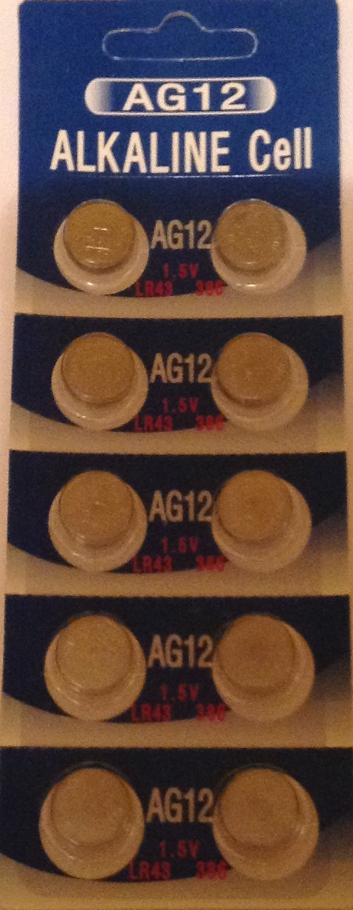 AG12 / LR43 Alkaline Button Watch Battery 1.5V - 1000 Pack - FREE SHIPPING