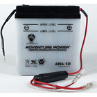 6N6-1D 6 Volt 6 Amp Hrs Conventional Power Sport Battery