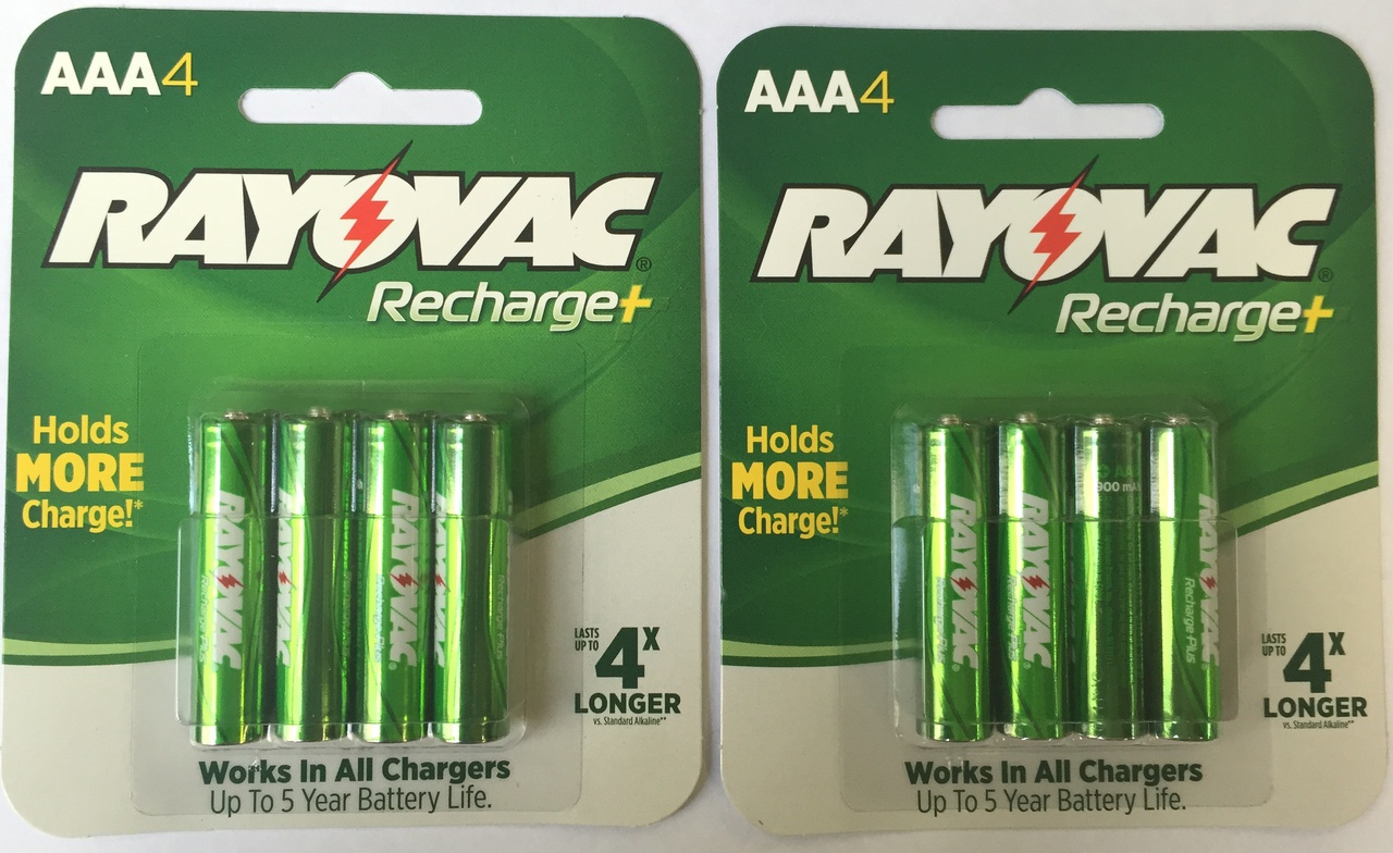 Rayovac Recharge Plus 900 MAh NiMH AAA 8-pack + FREE SHIPPING!