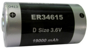 Titus D Size 3.6V ER34615FAX Lithium Battery With Axial Wire Leads - 2 Pack + Free Shipping!