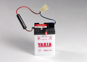 6 Volt 2 AMP Motorcycle And Power Sport Battery (6N2A-2C)