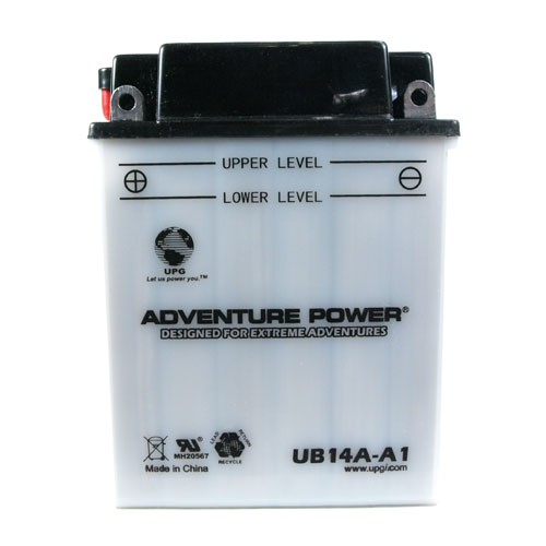 YB14A-A1 12 Volt 14 Amp Hrs Conventional Power Sport Battery