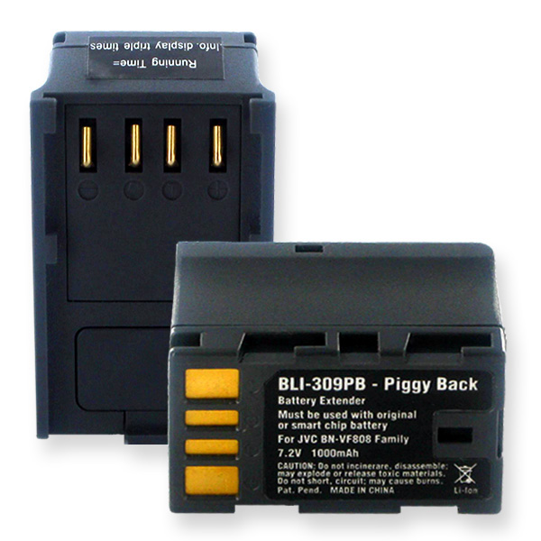 JVC BN-VF808 And 815 And 823 PIGGY BACK Video Battery