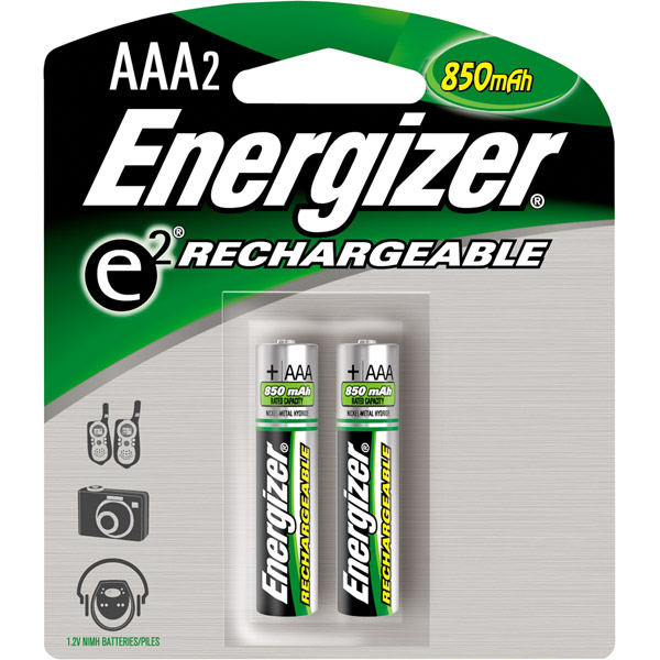 Energizer AAA Rechargeable NiMH Batteries - 2 Pack