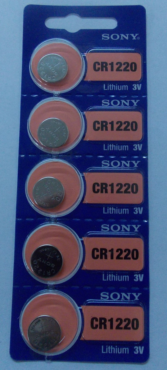 Sony CR1220 3V Lithium Coin Battery - 100 Pack + FREE SHIPPING!