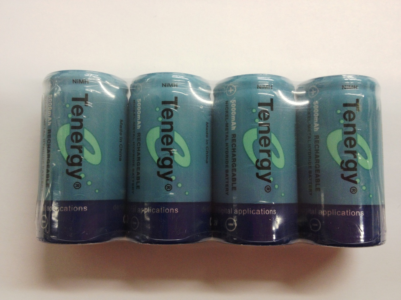 Tenergy 4 Pcs C Size 5000mAh High Capacity High Rate NiMH Rechargeable Batteries + FREE SHIPPING!