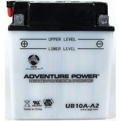YB10A-A2 12 Volt 11 Amp Hrs Conventional Power Sport Battery