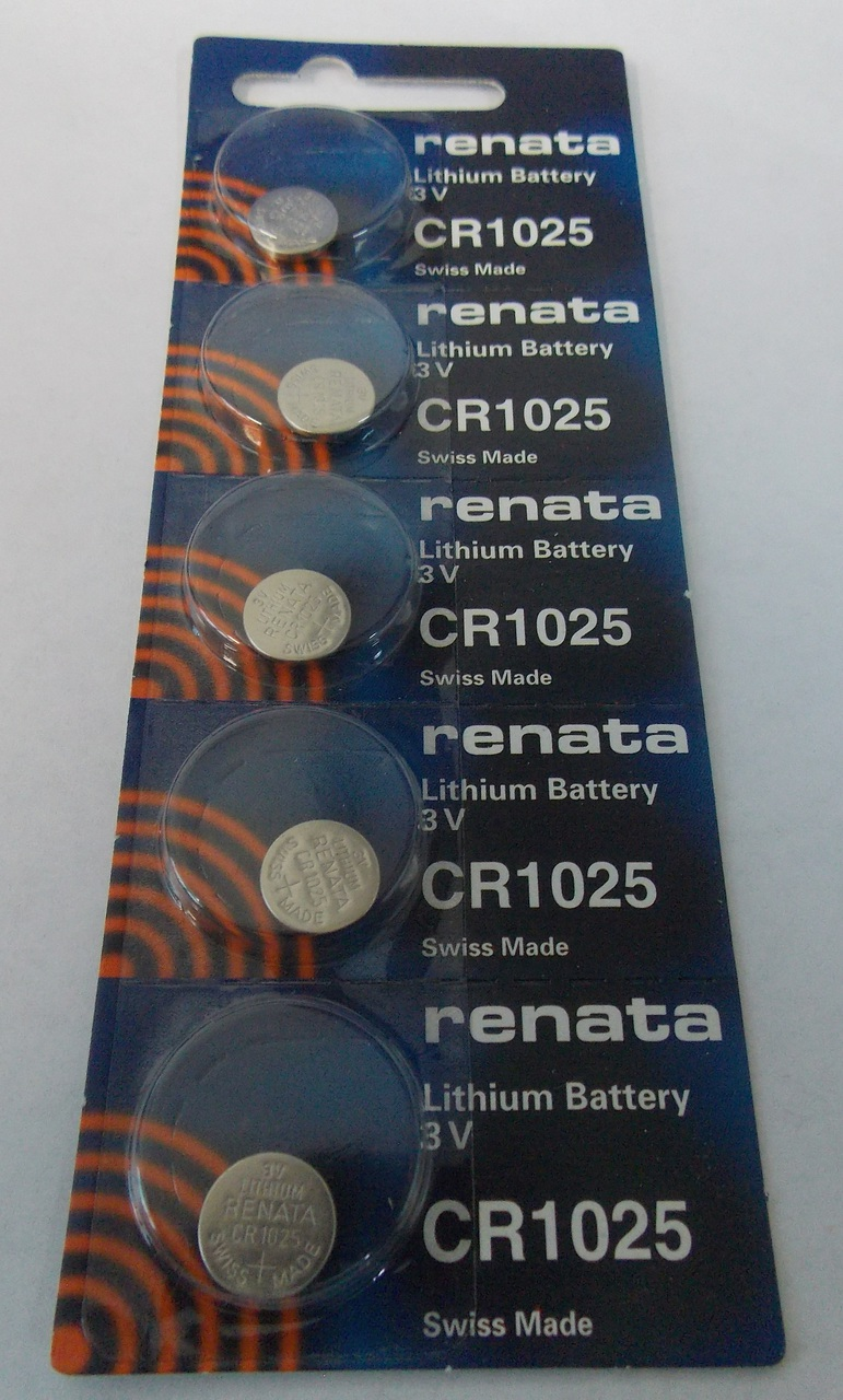 Renata CR1025 3V Lithium Coin Battery 5 Pack + FREE SHIPPING!