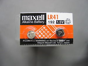 Maxell LR41 - 192 Alkaline Button Battery 1.5V - 2 Pack + FREE SHIPPING!