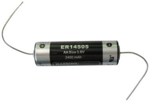 Titus AA Size 3.6V ER14505FAX Lithium Battery With Axial Wire Leads - 1 Pack + Free Shipping!