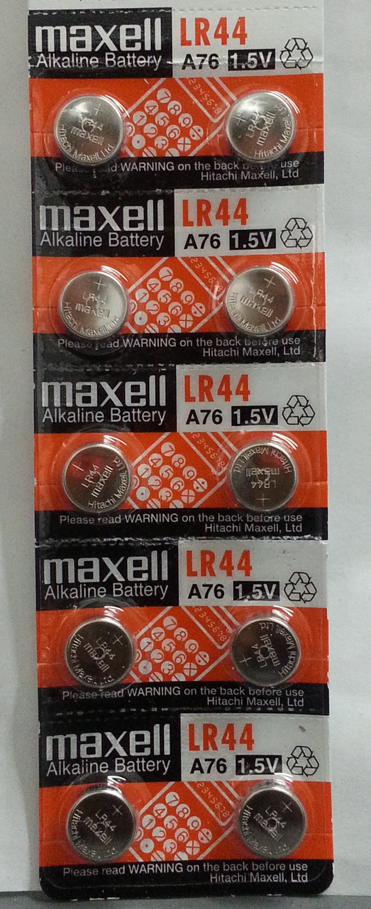 Maxell LR44 - A76 Alkaline Button Battery 1.5V - 10 Pack + FREE SHIPPING!