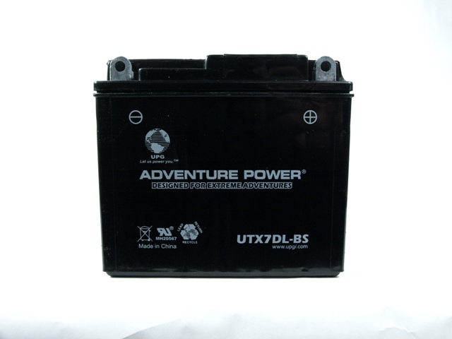 12N7A-4     12 Volt 7 Amp Hrs Dry Charge AGM Power Sport Battery