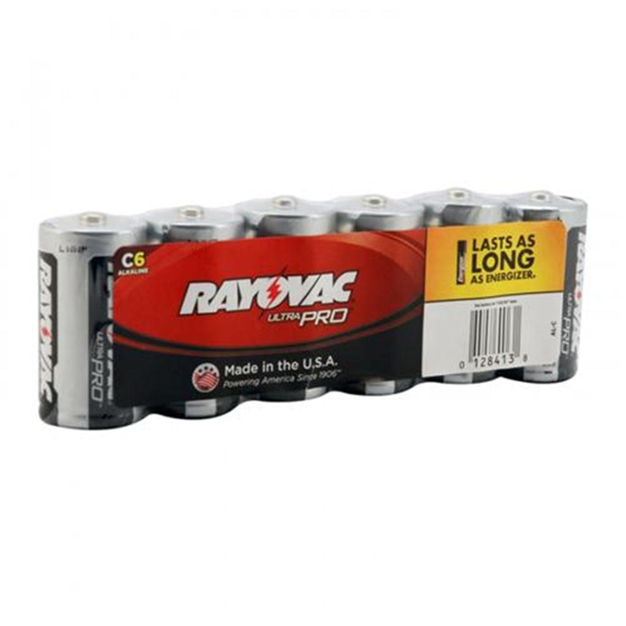 Rayovac  UltraPRO Alkaline C Batteries 6-Pack + FREE SHIPPING!