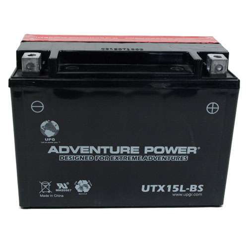 YTX15L-BS 12 Volt 13 Amp Hrs Dry Charge AGM Power Sport Battery