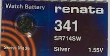 Renata 341 - SR714 Silver Oxide Button Battery 1.55V - 5 Pack + FREE SHIPPING!