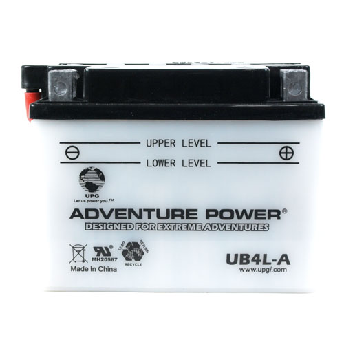YB4L-A 12 Volt 4 Amp Hrs Conventional Power Sport Battery