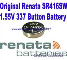 Renata 337 - SR416 Silver Oxide Button Battery 1.55V - 5 Pack + FREE SHIPPING!