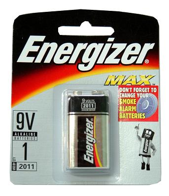 Energizer Max 9V - 60 Case Pack (60 Packages Of 1 Pack Retail) FREE SHIPPING!