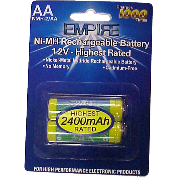 2AA NiMH RECHARGEABLE PER CARD Video Battery