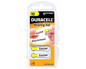 Duracell Activair Hearing Aid Batteries Size 10 - 20 Wheels Of 6 + FREE SHIPPING