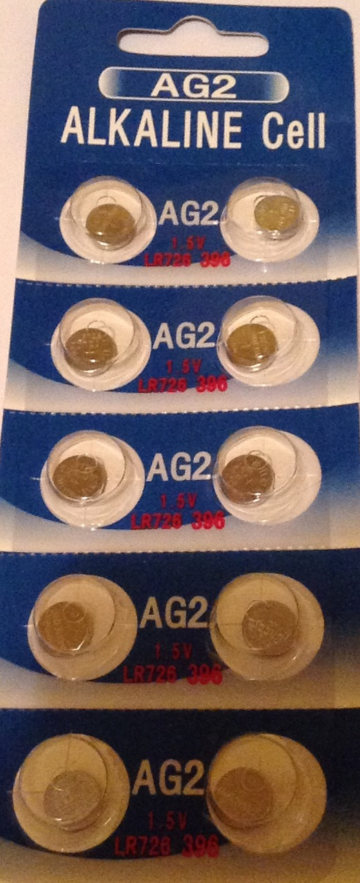 AG2 / LR726 Alkaline Button Watch Battery 1.5V - 1000 Pack - FREE SHIPPING