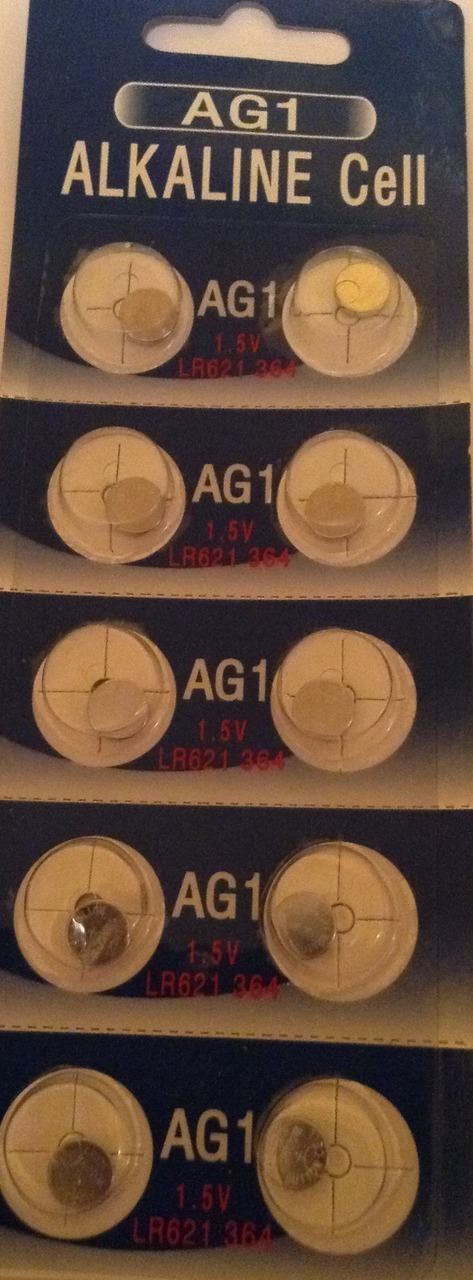 AG1 / LR621 Alkaline Button Watch Battery 1.5V - 1000 Pack - FREE SHIPPING!