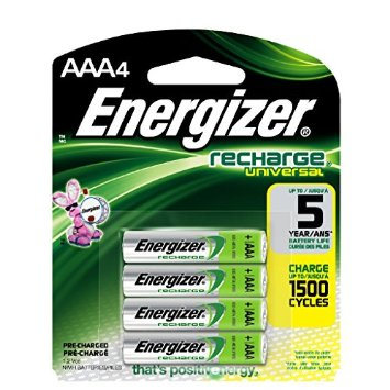 Energizer AAA Rechargeable NiMH Batteries - 4 Pack- Retail + Free Shipping