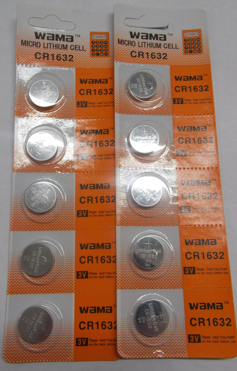 BBW CR1632 3V Lithium Coin Battery 10 Pack + FREE SHIPPING!