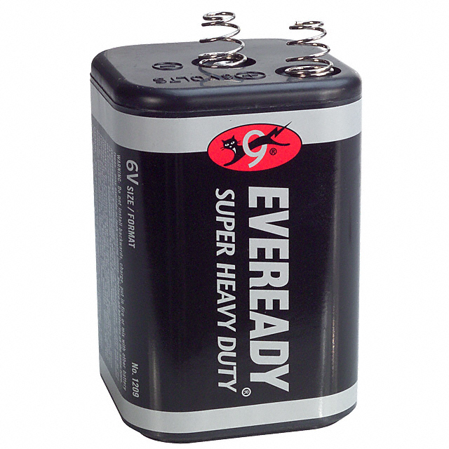 Eveready 1209 Super Heavy Duty 6 Volt Spring Top Lantern Battery