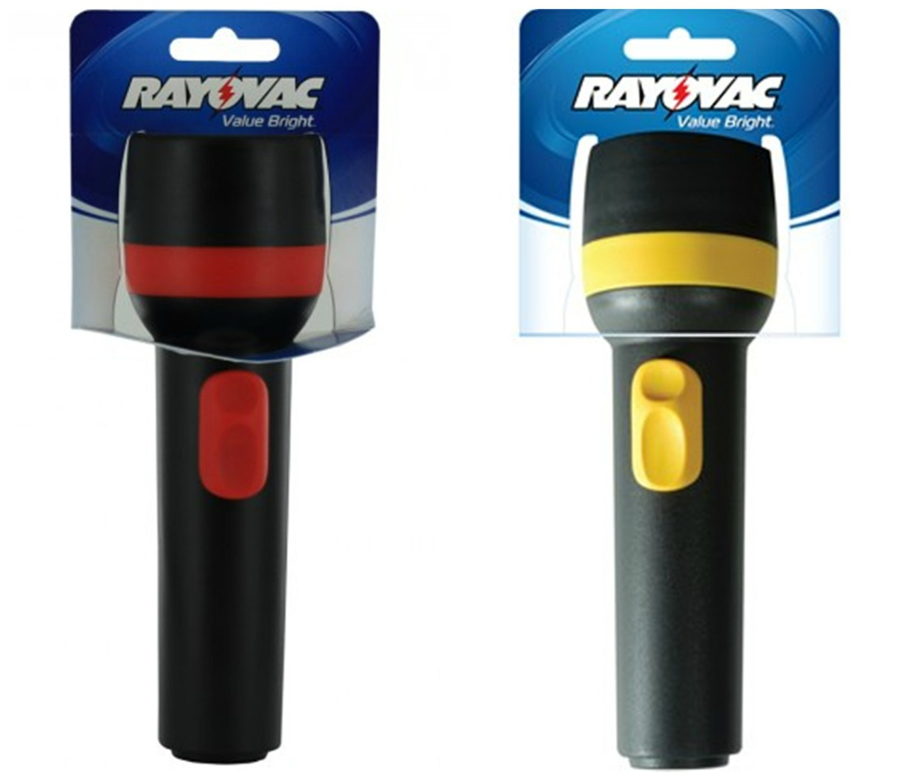(Pack Of 2) Rayovac Value Bright 2D Economy Flashlights - 9 Lumens - Each Uses 2 D Batteries + FREE SHIPPING!