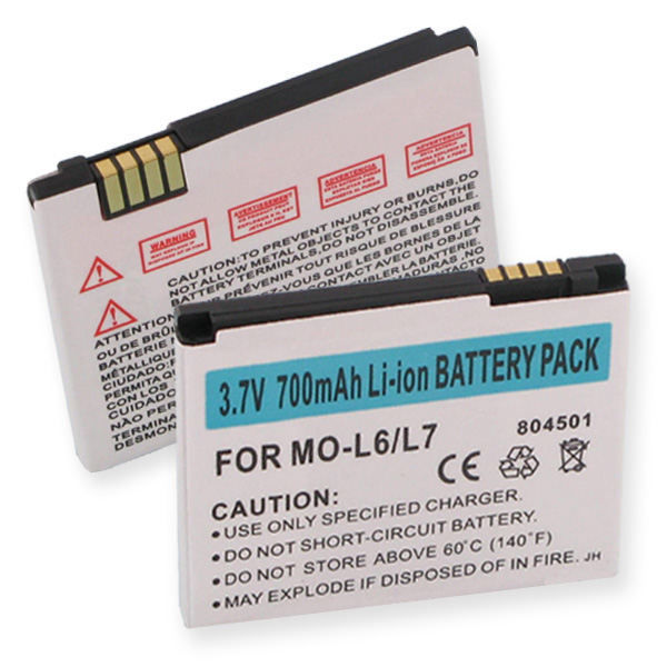 MOTOROLA SLVR L7 LI-ION 700mAh CELLULAR BATTERY + FREE SHIPPING