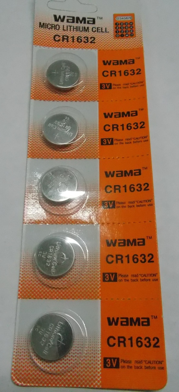 BBW CR1632 3V Lithium Coin Battery 100 Pack  - FREE SHIPPING!