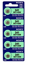 Sony 341 - SR714 Silver Oxide Button Battery 1.55V - 25 Pack + FREE SHIPPING!