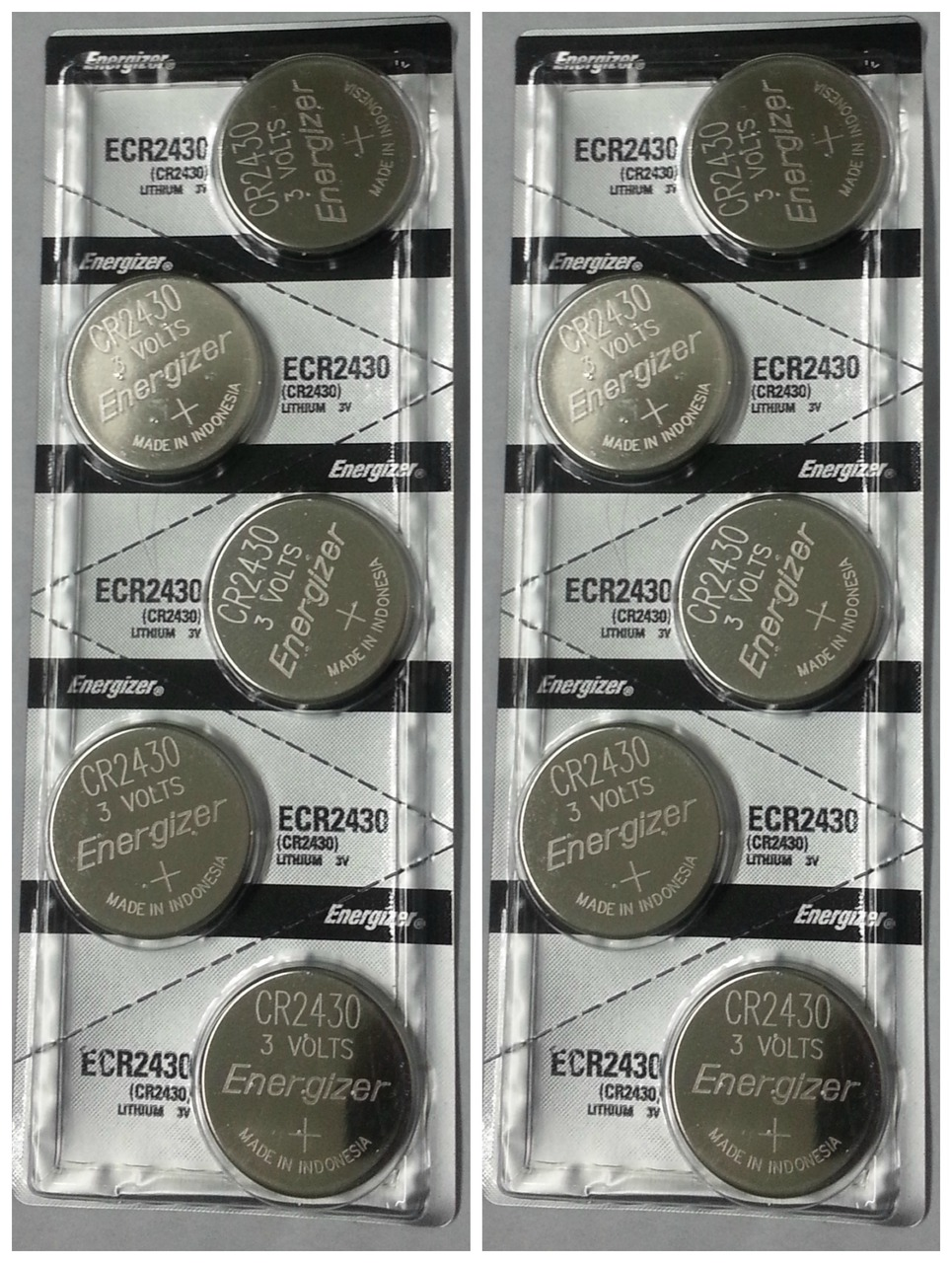 Energizer CR2430 3V Lithium Coin Battery 10 Pack + FREE SHIPPING