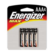 Energizer Max AAA - 4 Pack Retail