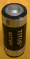 Titus 2/3AA Size 3.6V ER14335M High Energy Lithium Battery With Axial Wire Leads - 4 Pack + Free Shipping!